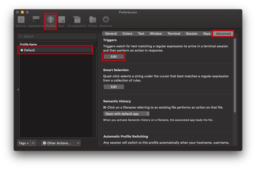 mac下配置 iterm2支持rz sz命令